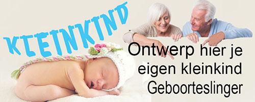 ontwerp geboorteslinger kleinkind