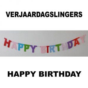 Happy Birthday feestslinger