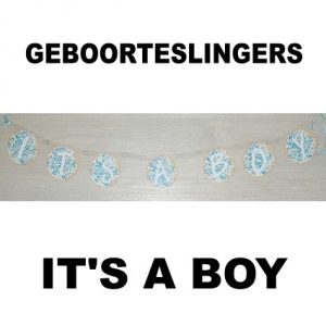 Its a boy geboorteslinger