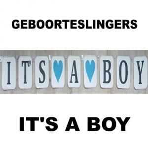 Its a Boy geboorteslinger Pk2