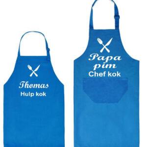 Keukenschort chefkok vader-zoon